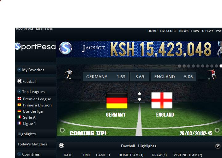 Sportpesa betting table striker9 pro binary options system