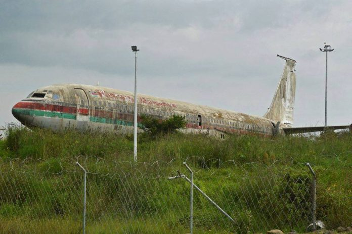 KQ Plane Abandoned in Ethiopia