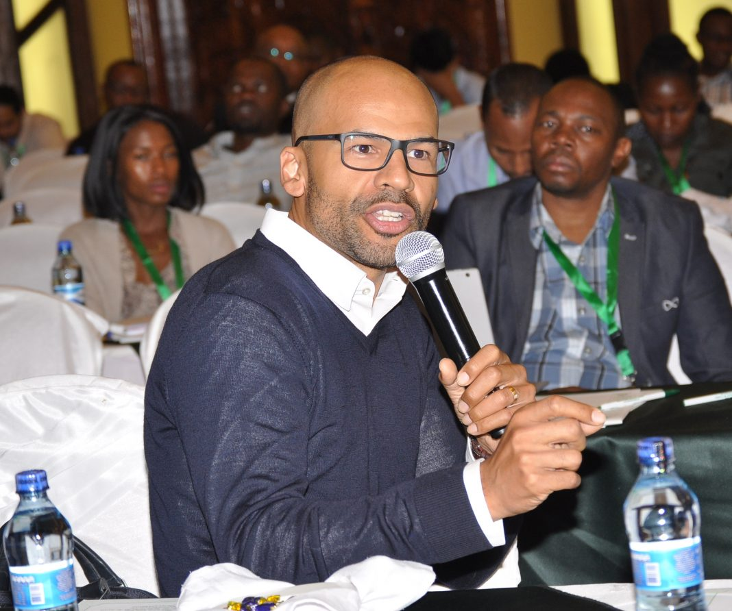 Dr Anders Barasa, Research Lead and Consultant Cardiologist at Aga Khan University Hospital speaking at a Heart Symposium this year. - Newsday Kenya