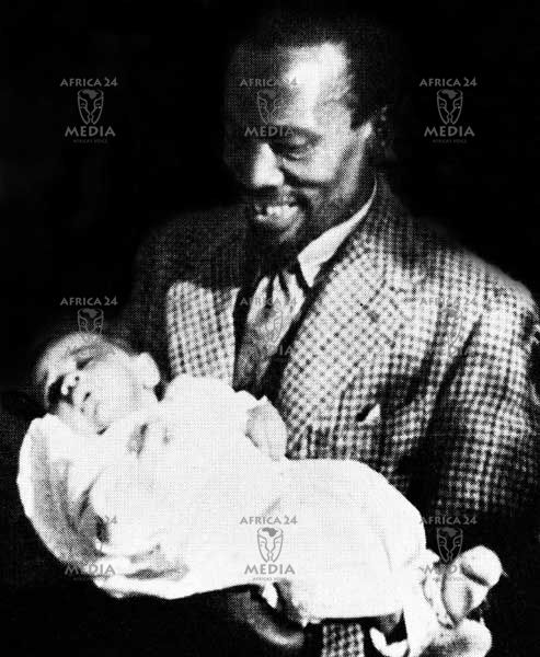 Peter Magana With His Father Mzee Jomo Kenyatta As A Baby